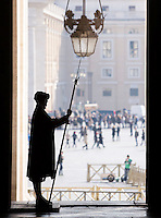 Una Guardia Svizzera in Vaticano, 21 febbraio 2015.<br /> A Swiss Guard at the Vatican, 21 February 2015.<br /> UPDATE IMAGES PRESS/Riccardo De Luca<br /> <br /> STRICTLY ONLY FOR EDITORIAL USE