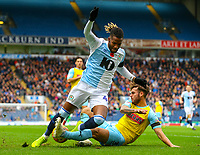 Blackburn Rovers' Kasey Palmer is tackled by Rotherham United's Joe Mattock<br /> <br /> Photographer Alex Dodd/CameraSport<br /> <br /> The EFL Sky Bet Championship - Blackburn Rovers v Rotherham United - Saturday 10th November 2018 - Ewood Park - Blackburn<br /> <br /> World Copyright &copy; 2018 CameraSport. All rights reserved. 43 Linden Ave. Countesthorpe. Leicester. England. LE8 5PG - Tel: +44 (0) 116 277 4147 - admin@camerasport.com - www.camerasport.com