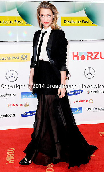 Pictured: Heike Makatsch<br /> Mandatory Credit &copy; Adhemar Sburlati/Broadimage<br /> 2014 Goldene Kamera Awards - Arrivals<br /> <br /> 2/6/14, Munich, , Germany<br /> <br /> Broadimage Newswire<br /> Los Angeles 1+  (310) 301-1027<br /> New York      1+  (646) 827-9134<br /> sales@broadimage.com<br /> http://www.broadimage.com