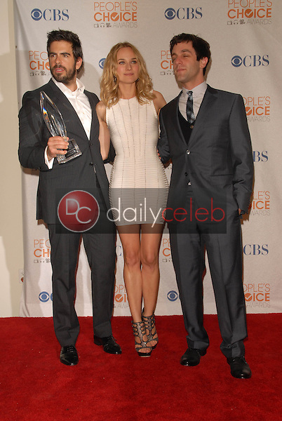 Eli Roth, Diane Kruger and  B.J. Novak<br />