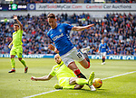 05.05.2019 Rangers v Hibs: Nikola Katic and David Gray