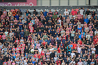 Lincoln City fans watch their team in action<br /> <br /> Photographer Chris Vaughan/CameraSport<br /> <br /> The EFL Sky Bet Championship - Rotherham United v Lincoln City - Saturday 10th August 2019 - New York Stadium - Rotherham<br /> <br /> World Copyright © 2019 CameraSport. All rights reserved. 43 Linden Ave. Countesthorpe. Leicester. England. LE8 5PG - Tel: +44 (0) 116 277 4147 - admin@camerasport.com - www.camerasport.com