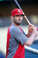 Matt Carpenter #13 of the St.Louis Cardinals before a game against the Los Angeles Dodgers at Dodger Stadium on September 13, 2012 in Los Angeles, California. St.Louis defeated Los Angeles 2-1. (Larry Goren/Four Seam Images)