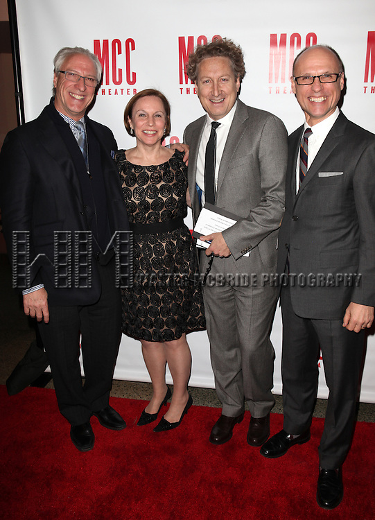 Robert Lupone, Guest, Bernie Telsey & Will Cantler.attending the 'MISCAST 2012' MCC Theatre's Annual Musical Spectacular at The Hammerstein Ballroom in New York City on 3/26/2012. © Walter McBride / WM Photography