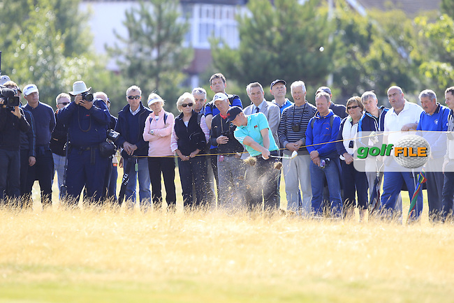 Paul Dunne (IRL) during the sunday morning foursomes for the Walker Cup, Royal Lytham St Annes, Lytham St Annes, Lancashire, England. 13/09/2015<br /> Picture Golffile | Fran Caffrey<br /> <br /> <br /> All photo usage must carry mandatory copyright credit (&copy; Golffile | Fran Caffrey)