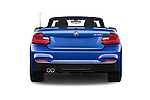 Straight rear view of 2017 BMW 2-Series M230i 2 Door Convertible Rear View  stock images
