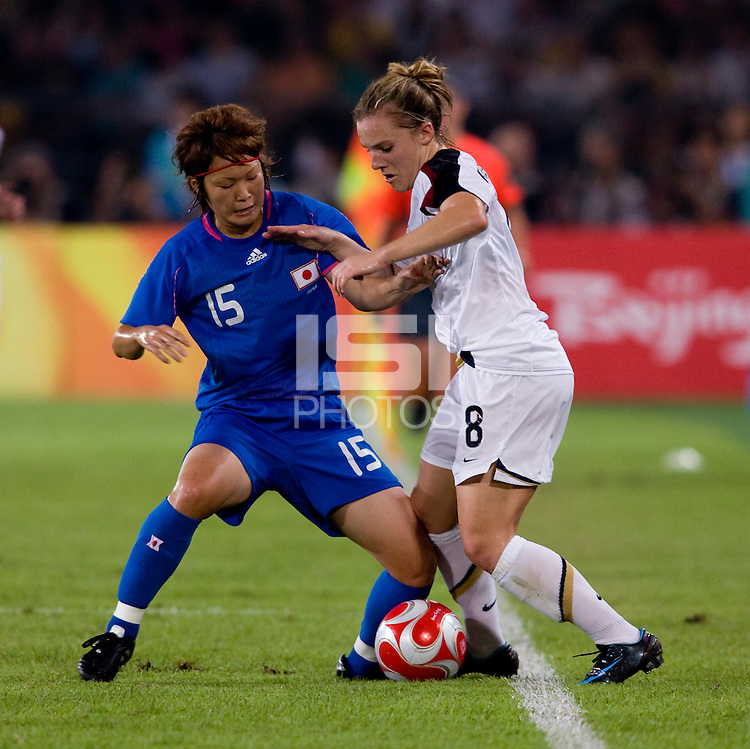 Amy Rodriguez, Mizuho Sakaguchi. The USWNT defeated Japan, 4-2, during the semi-finals of the Beijing 2008 Olympics in Beijing, China.