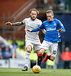 28.04.2019 Rangers v Aberdeen: Steven Davis and Stevie May