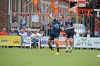 KAATSEN: HARLINGEN: 29-06-2014, Marten Feenstra, Pier Piersma, Martijn Olijnsma winnen, Renze Pieter Hiemstra slaat uit, ©foto Martin de Jong