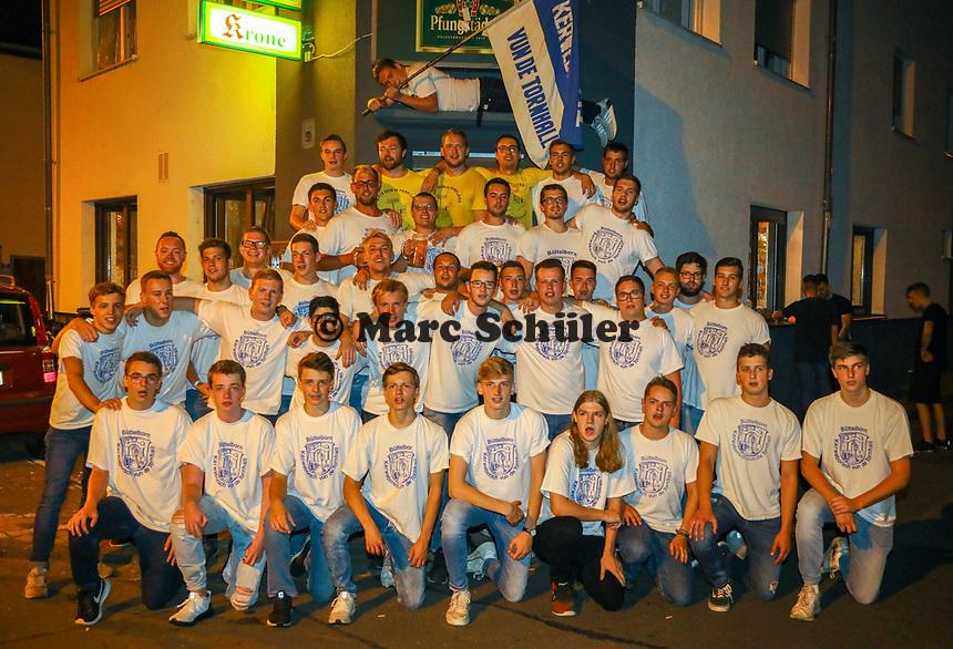 Büttelborn 26.08.2019: Kerwefoto Kerweborsch<br /> Biddelberner Kerweborsch vun de Tornhall<br /> Foto: Vollformat/Marc Schüler, Schäfergasse 5, 65428 R'eim, Fon 0151/11654988, Bankverbindung KSKGG BLZ. 50852553 , KTO. 16003352. Alle Honorare zzgl. 7% MwSt.
