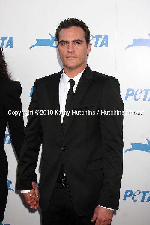 LOS ANGELES - SEP 25:  Joaquin Phoenix arrives at the PETA 30th Anniversary Gala at Hollywood Palladium on September 25, 2010 in Los Angeles, CA