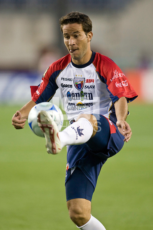Atlante FC forward Luis Gabriel Rey (11). The New England Revolution defeated Atlante FC 1-0 during a SuperLiga semifinal match at Gillette Stadium in Foxborough, MA, on July 30, 2008.