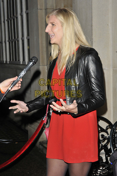LONDON, ENGLAND - JANUARY 16: Rebecca Adlington attends the Russell Marshall: 40 - A Kate Moss Retrospective exhibition private view, Imitate Modern Gallery, Devonshire St., on Thursday January 16, 2014 in London, England, UK.<br /> CAP/CAN<br /> &copy;Can Nguyen/Capital Pictures