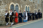 Mayoring Ceremony Winchelsea East Sussex.<br />