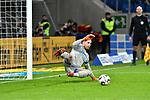 01.12.2018, wirsol Rhein-Neckar-Arena, Sinsheim, GER, 1 FBL, TSG 1899 Hoffenheim vs FC Schalke 04, <br /> <br /> DFL REGULATIONS PROHIBIT ANY USE OF PHOTOGRAPHS AS IMAGE SEQUENCES AND/OR QUASI-VIDEO.<br /> <br /> im Bild: Andrej Kramaric (TSG Hoffenheim #27) trifft das Tor zum 1:0 gegen Ralf F&auml;hrmann / Faehrmann / Fahrmann (#1, FC Schalke 04)<br /> <br /> Foto &copy; nordphoto / Fabisch