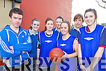 CHARITY: Students from Coláiste Íde agus Iosaef, Abbeyfeale who took part in the charity basketball tournament at Listowel Sports Centre last Friday, l-r: Ian Mooney, Sinead Collins, Shannyn Sheahan, Katie O'Connell, Lorna Cannon, Jean Scannell, Eimear Morris.