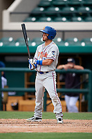 St. Lucie Mets right fielder Arnaldo Berrios (22) at bat during a game against the Lakeland Flying Tigers on June 11, 2017 at Joker Marchant Stadium in Lakeland, Florida.  Lakeland defeated St. Lucie 1-0.  (Mike Janes/Four Seam Images)