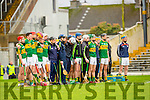 Kerry team line up against Waterford during their clash in Fitzgerald Stadium on Saturday