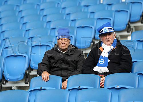 29th October 2017, Amex Stadium, Brighton, England; EPL Premiership football, Brighton and Hove Albion versus Southampton; Fans take to their seats in The Amex Stadium