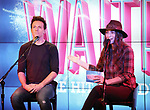 Jason Mraz and Sara Bareilles attend the Jason Mraz joins the cast of  'Waitress' Press Event on October 30, 2017 at You Tube Space in New York City.