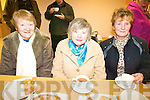 CUPPA: Enjoying the refreshments at the re-opened Killorglin Family Resource Centre on Thursday last were l-r: Mary Murphy, Mary Harmon, Kathleen Cronin.