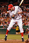 19 May 2007: Washington Nationals infielder Robert Fick is hit by a pitch in the 9th inning against the Baltimore Orioles at RFK Stadium in Washington, DC. The Orioles defeated the Nationals 3-2 in the second game of the 3-game interleague series...Mandatory Photo Credit: Ed Wolfstein Photo