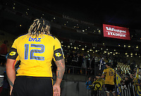 Ma'a Nonu after his final match for the Hurricanes. Super 15 rugby match - Crusaders v Hurricanes at Westpac Stadium, Wellington, New Zealand on Saturday, 18 June 2011. Photo: Dave Lintott / lintottphoto.co.nz