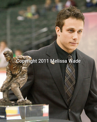 Andy Miele (Miami - 17) - The Hobey Baker Award winner was announced on Friday, April 8, 2011, during a ceremony involving the three top finalists also known as the Hobey Hat Trick at the 2011 Frozen Four at Xcel Energy Center in St. Paul, Minnesota.