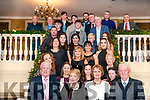 Double Celebrations: Brothers Mike & Bill Kennelly, Rathea, Listowel , letf * right front celebrating their 80th & 90th birthdays with their families at the Listowel Arms Hotel on Saturday night last