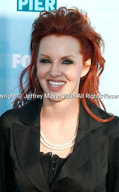 Actress Gretchen Bonaduce arrives at the Fox All-Star Party At The Pier at the Santa Monica Pier on July 14, 2008 in Santa Monica, California.