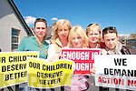 DEMANDING ACTION: Parents of children attending Blennerville National School show their anger at the delays in the development of a new school l-r: Yvonne Quill, Ann Walsh, Neasa O'Connor, Agnes Knightly and Anne Kelliher.   Copyright Kerry's Eye 2008