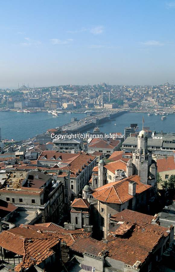 Turkey, a view of Istanbul from Galata tower