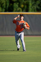 Baltimore Orioles Tim Nichting (55) during practice before an Instructional League game against the New York Yankees on September 23, 2017 at the Yankees Minor League Complex in Tampa, Florida.  (Mike Janes/Four Seam Images)