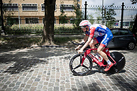 Suisse TT champion Stefan Küng (SUI/Groupama-FDJ) returning to the start over rough terrain through Brussels after the morning course reconnaissance <br /> <br /> Stage 2 (TTT): Brussels to Brussels(BEL/28km) <br /> 106th Tour de France 2019 (2.UWT)<br /> <br /> ©kramon