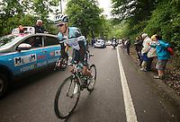 championship favorite Gianni Meersman (BEL) trailing behind the peloton mid-race<br /> <br /> Belgian Championchips 2013