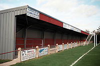 Covered terrace at Diss Town FC Football Ground, Brewers Green Lane, Diss, Norfolk, pictured on 1st November 1996