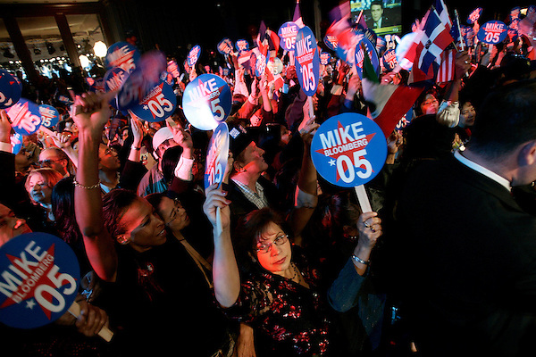 Incumbent Republican mayor Michael Bloomberg was reelected tonight, defeating his Democratic opponent, Fernando Ferrer. A huge party was thrown at the Manhattan Sheraton hotel for volunteers and contributers  to celebrate his victory and usher in another 4 year term.