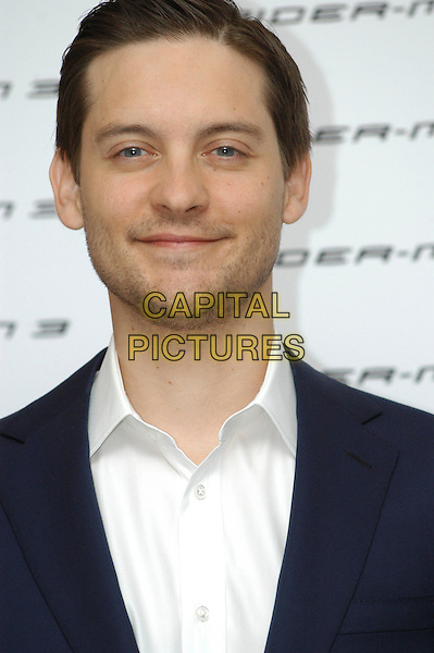 "TOBEY MAGUIRE .Photocall for ""Spider-Man 3"" held at the Hotel Excelsior, Rome, Italy..April 24th, 2007.headshot portrait stubble facial hair .CAP/CAV.©Luca Cavallari/Capital Pictures"