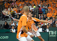 20-9-08, Netherlands, Apeldoorn, Tennis, Daviscup NL-Zuid Korea, Dubbles match: Jesse Huta Galung and Peter Wessels  vs  HyungTaik Lee and WongSun Jun