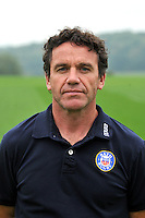 Bath Rugby Head Coach Mike Ford poses for a portrait at a squad photocall. Bath Rugby photocall on September 23, 2013 at Farleigh House in Bath, England. Photo by: Patrick Khachfe/Onside Images