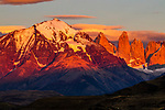 Mountains at sunrise, Torres del Paine, Torres del Paine National Park, Patagonia, Chile