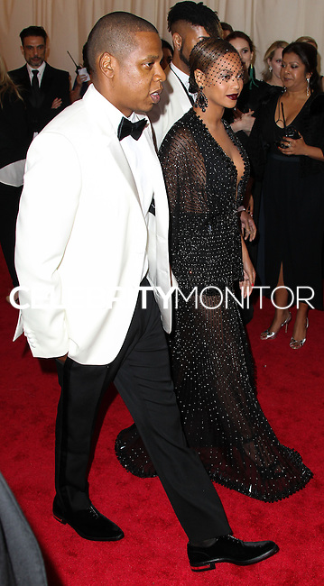 "NEW YORK CITY, NY, USA - MAY 05: Jay-Z, Beyonce at the ""Charles James: Beyond Fashion"" Costume Institute Gala held at the Metropolitan Museum of Art on May 5, 2014 in New York City, New York, United States. (Photo by Xavier Collin/Celebrity Monitor)"