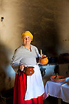 La Purisima Mission in Lompoc, California.  Mision La Purisima Concepcion de Maria Santisima was founded on December 8, 1787 by Franciscan Padre Presidente Fermin Francisco Lasuen. La Purisima was the eleventh mission of the twenty-one Spanish Missions established in what later became the state of California. Women dressed in period clothing for Purisima People's Day.