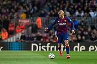 7th March 2020; Camp Nou, Barcelona, Catalonia, Spain; La Liga Football, Barcelona versus Real Sociedad; Martin Braithwaite of FC Barcelonacomes forward into attack
