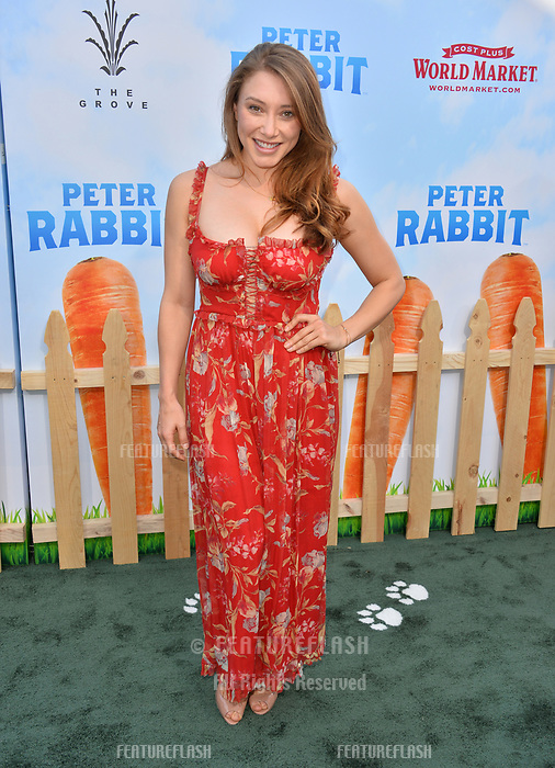 Alexandra Vino at the world premiere for &quot;Peter Rabbit&quot; at The Grove, Los Angeles, USA 03 Feb. 2018<br /> Picture: Paul Smith/Featureflash/SilverHub 0208 004 5359 sales@silverhubmedia.com
