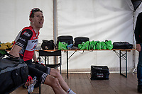 Bauke Mollema  (NED/Trek-Segafredo) after finishing the mountaintop finish of Stage 13: Pinerolo to Ceresole Reale/Lago Serrù (196km)<br /> 102nd Giro d'Italia 2019<br /> <br /> ©kramon
