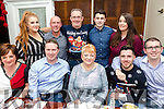 Staff from the Tralee Regional Sports & Leisure Centre enjoying their christmas night out at Denny Lane on Saturday Front l-r Fiona Kelly, Finbar Griffin, Ellen McSweene, Patrick Fitzgibbon, Kieran O' Flaherty. Back l-r Aoife McDonald, Paudie Moriarty, Ger McDonald, Graham Dolan, Celine kassan,