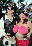 "Charlie Walton and Michelle ""gypsy mermaid"" Kaiserat the 2010 Art Car Ball at the Orange Show Monument & Warehouse Thursday May 06,2010.  (Dave Rossman Photo)"