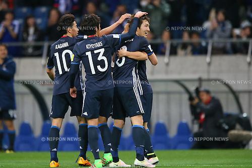 Japan team group (JPN), MARCH 29, 2016 - Football / Soccer : FIFA World Cup Russia 2018 Asian Qualifier Second Round Group E match between Japan 5-0 Syria at Saitama Stadium 2002, Saitama, Japan. (Photo by YUTAKA/AFLO SPORT)