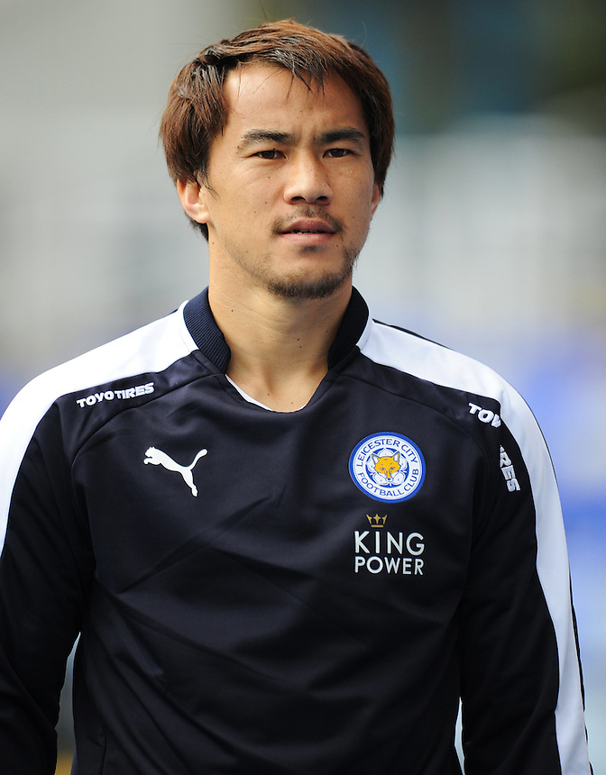 Leicester City&rsquo;s Shinji Okazaki walks out among the substitutes before kick-off<br /> <br /> Photographer Kevin Barnes/CameraSport<br /> <br /> Football - Pre-Season Friendly - Birmingham City v Leicester City - Saturday 1st August 2015 - St Andrew's - Birmingham<br /> <br /> &copy; CameraSport - 43 Linden Ave. Countesthorpe. Leicester. England. LE8 5PG - Tel: +44 (0) 116 277 4147 - admin@camerasport.com - www.camerasport.com